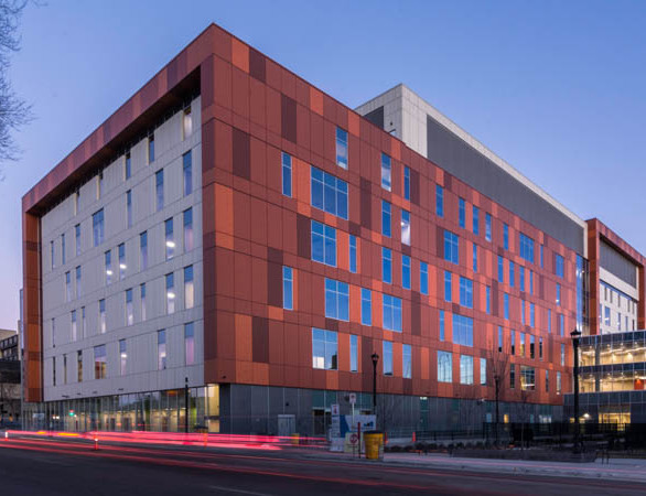 Featured here at the Hennepin County Medical Center in Minneapolis, Minnesota, is Pure + FreeForm's Autumn Rust Dark, Medium, and Light in matte. 