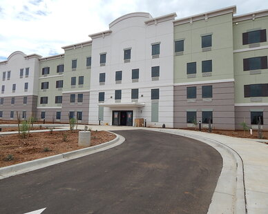 """Our clients love that our products are so advanced meeting many criteria but with just one product, instead of multiple.    Here's what they have to say:  """"We've used PABCO in the past, but this is our first Candlewood Suites."""" Fries sums up. """"While (PABCO Gypsum's) QuietRock is a technically advanced product, contractors love the fact that it handles the same – it's hung the same – finishes go on it the same as with standard drywall. We're very pleased with the way it went up at Fort Huachuca and it looks great."""