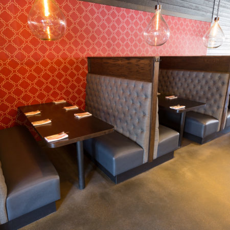 Booth seating provided by Randy's Booth Co. Inc. for Red Rabbit in downtown Minneapolis, Minnesota.