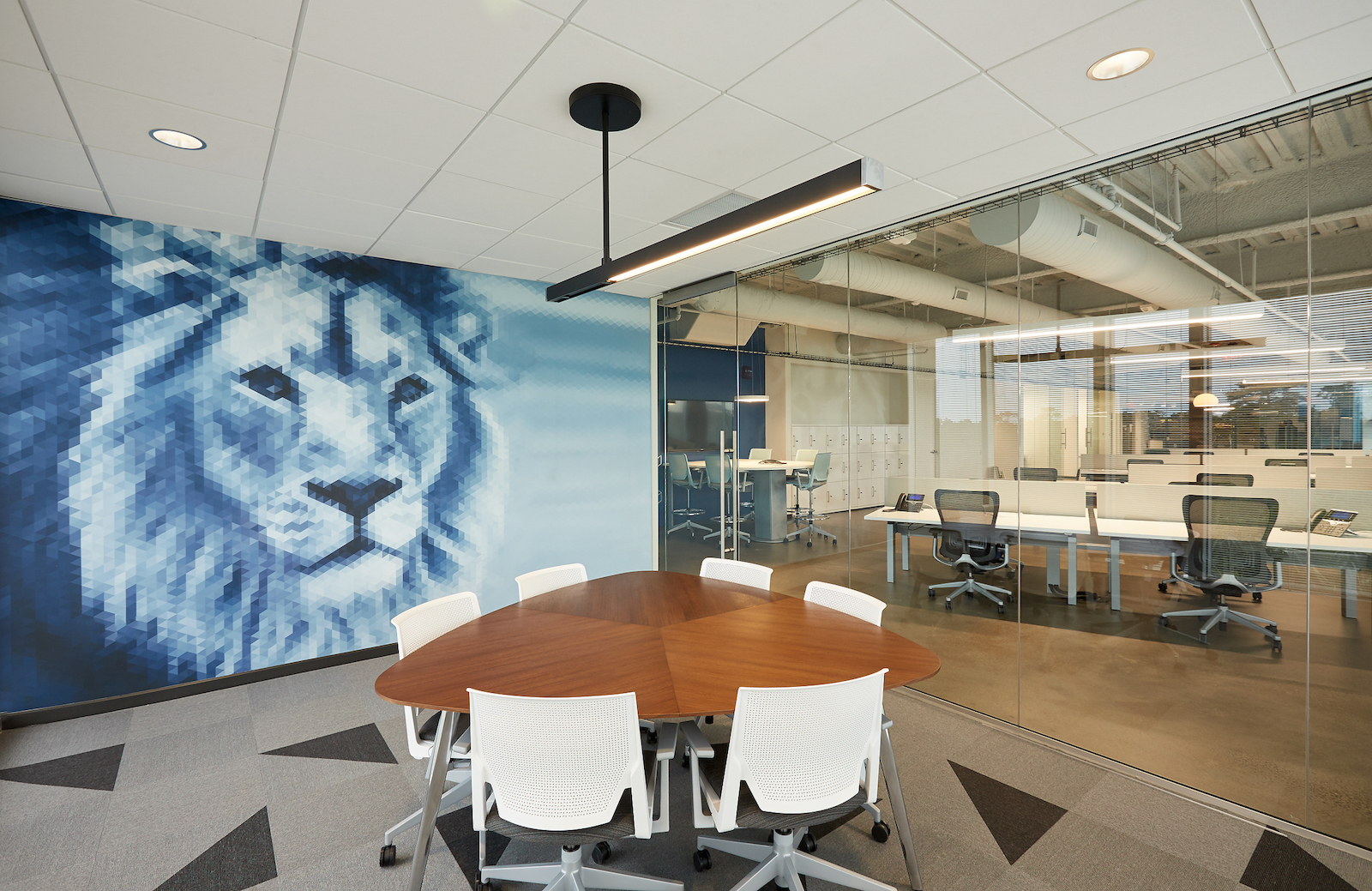 Interior of RBC Wealth Management Innovation Lab located in Orlando, FL.
