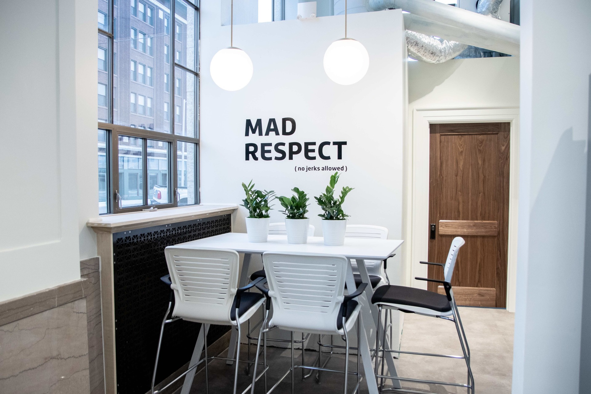 Mortarr's core values and beloved quotes can be found throughout their bright new space.