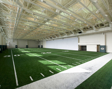 Updated rehabilitation facility at Lambeau Field in Green Bay, Wisconsin, by Miron Construction.