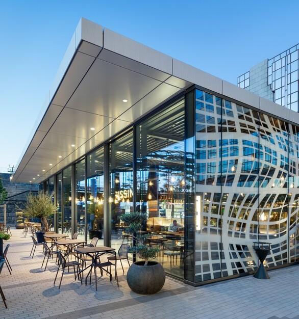 Restaurant Exteriors Architectural Sliding Glass Wall