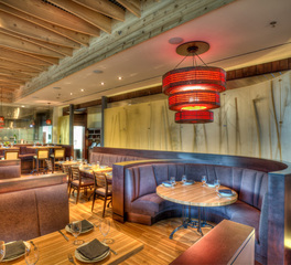 Restaurant seating space