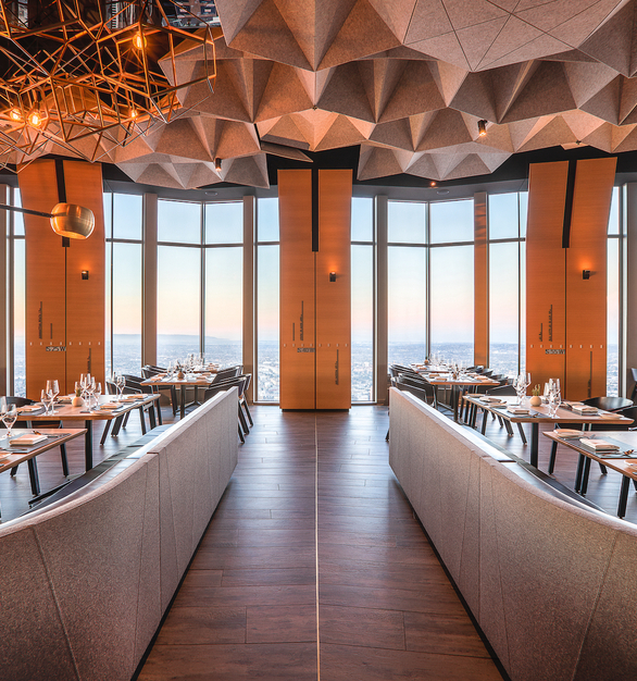 Unrivaled panoramic views of Los Angeles are now available to everyone thanks to 71Above, the fine-dining restaurant situated on the 71st floor of the U.S. Bank Tower.