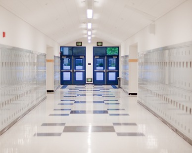 High-traffic school hallways need durable flooring products. Our quartz tiles come in large format tiles and offer premium visual and design flexibility.