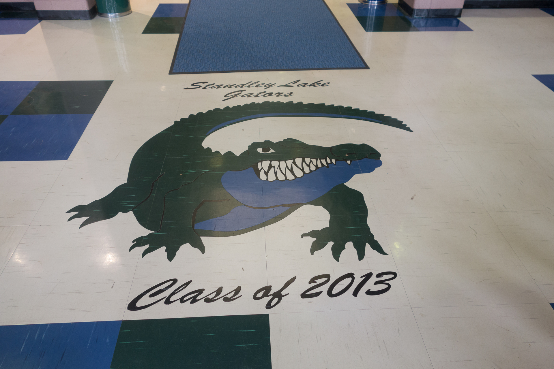 The senior class logo, at Standley Lake High School, featuring our tile that was cut using the Waterjet method.