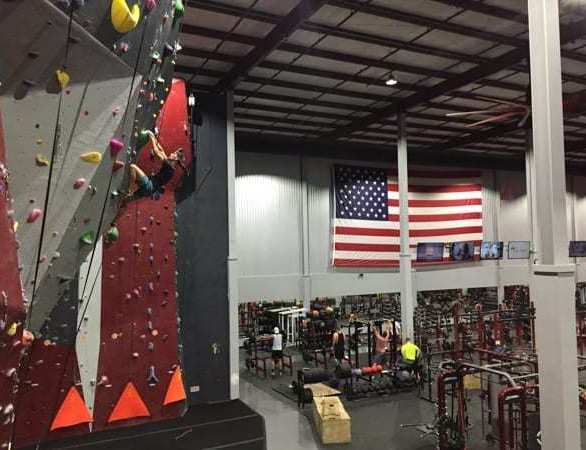 The RISE Fitness & Adventure center in Rehobeth Beach, DE features approximately 4,200 sq. ft. of roped climbing wall and bouldering terrain.