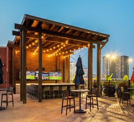 Rooftop Patio, Rooftop Bar Design, Condo Design