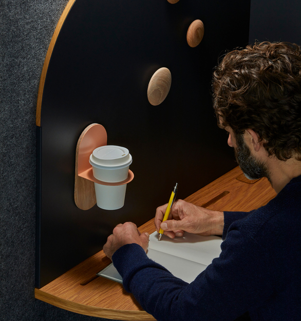 """Motion-activated LED light ensures you stay energy efficient. The 31.5"""" wide desk gives you ample space for all your essentials."""