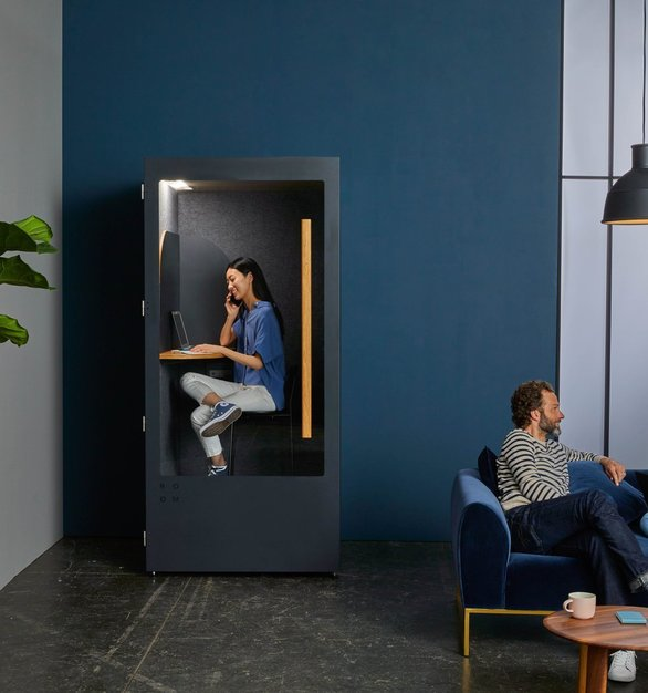 Three layers of soundproofing materials let you tune out the office gossip and get down to business.