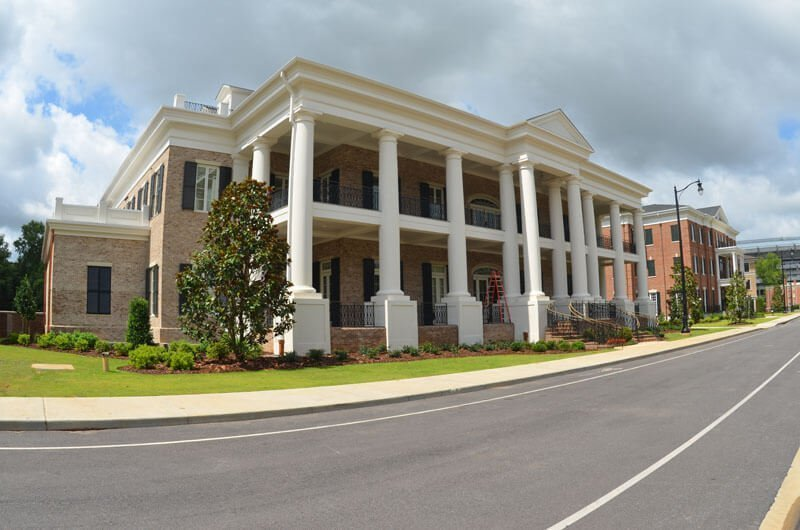 """Royal Corinthian manufactures RoyaLiteTM fiberglass-reinforced polymer """"FRP"""" cornice and entablature using general-purpose or Class A fire rated resins."""