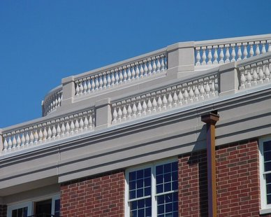 Root top balustrades, by Royal Corinthian.