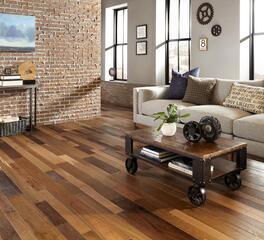 Rustic Oak Flooring in Resort Lounge