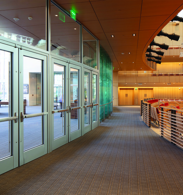 The Klarman Hall at the Harvard Business School features SAFTI FIRST GPX Architectural Series Aluminum Doors.