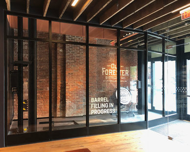 Old Forester Distillery in Louisville, Kentucky chose SAFTI FIRST's SuperLite II-XL 60 in GPX Architectural Series Framing for their entry way.