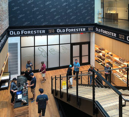 safti first Old Forester Distillery glass walls and doors