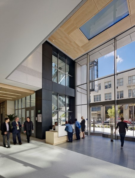 The San Francisco Public Utilities Commission office building boasts SAFTI FIRST's GPX Architectural Series Walls and GPX Builder Series TR Doors for the entrance and lobby.