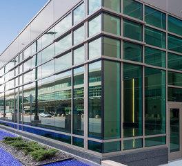 SageGlass MSP International Airport Dynamic Smart Glass Solution