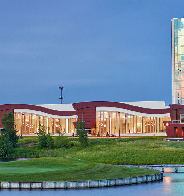 Mystic Lake chose to install dynamic SageGlass on the entire west-facing façade of the building to optimize daylight, outdoor views, and occupant comfort while preventing glare, overheating, and fading of interior elements.