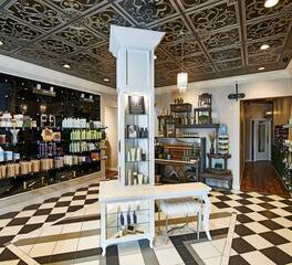 Salon Retail Display Decorative Ceiling Tiles Five Senses Salon beauty salon with decorative ceiling tiles
