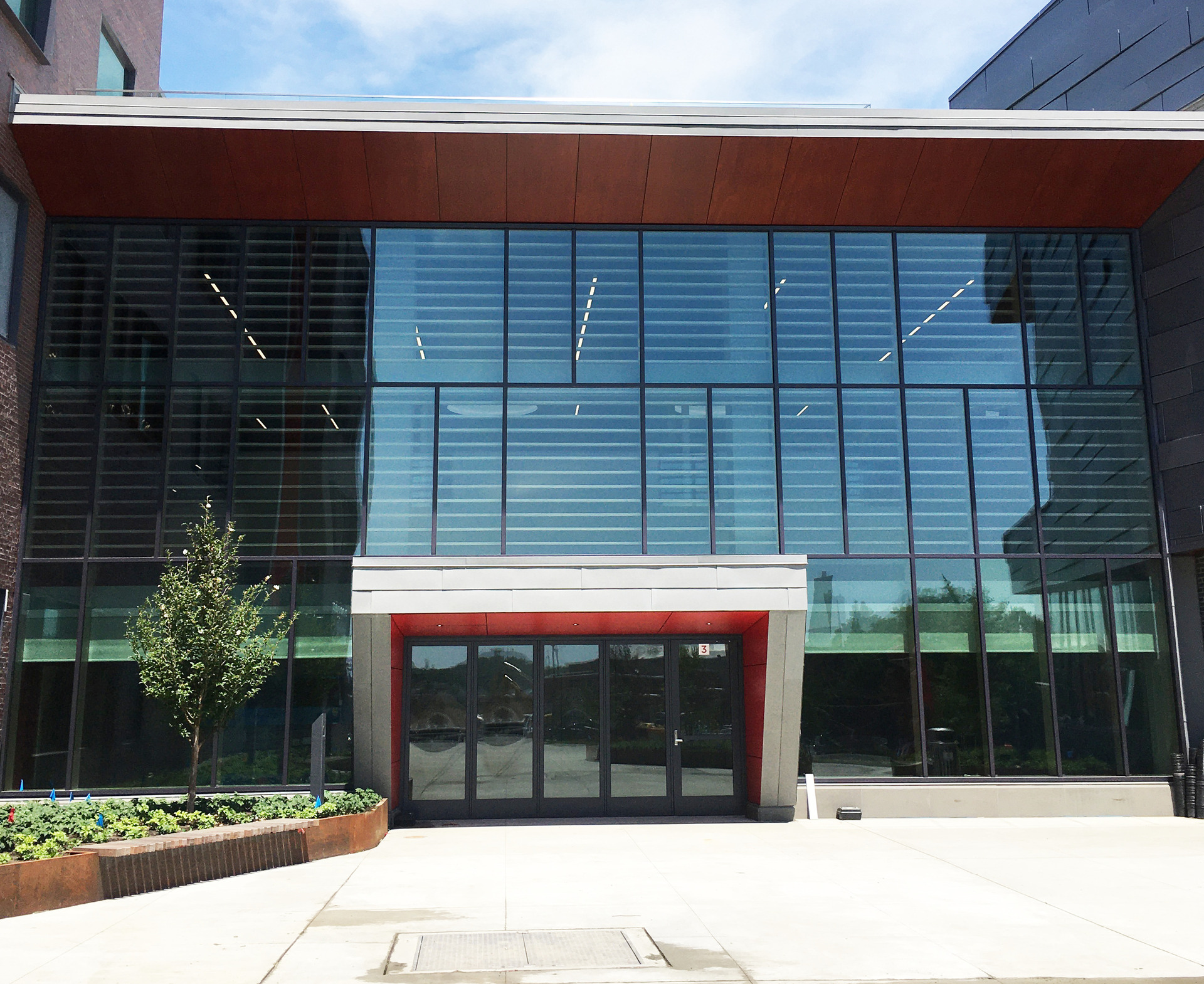 Saugus Middle/High School, located in Saugus, Massachusetts, integrated with  Lamboo® Vue™ Series - Curtain Wall System throughout their final design.