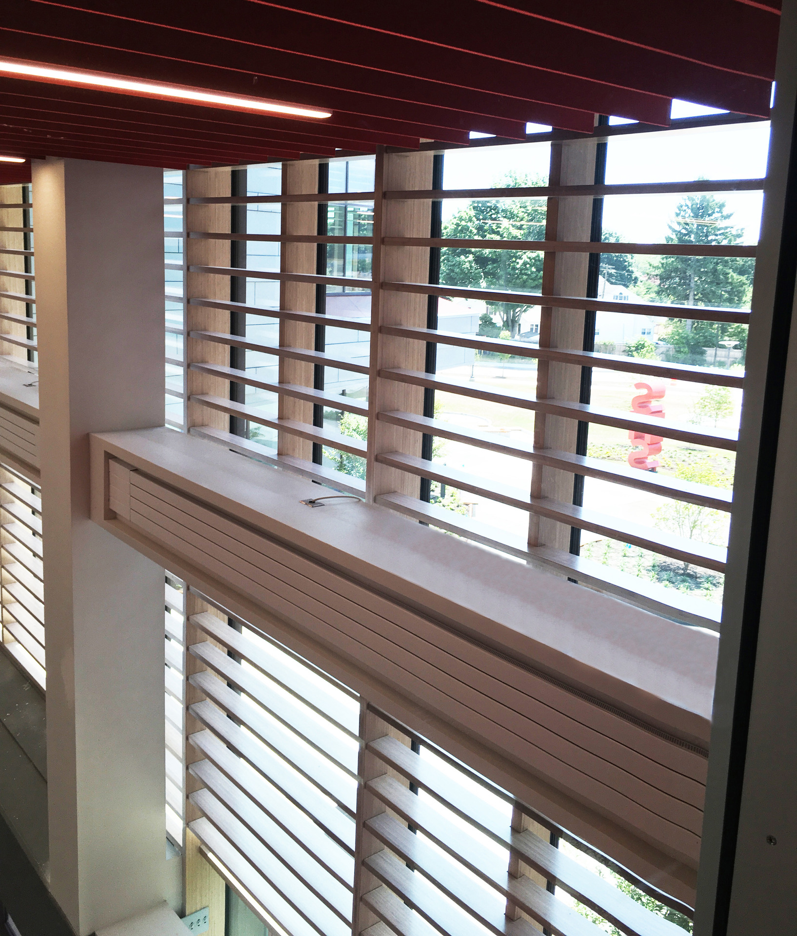 Featured here at Saugus Middle/High School areLamboo® Vue™ Series - Curtain Wall System & Sun Shade Louvers, this brings uniformity throughout the school.