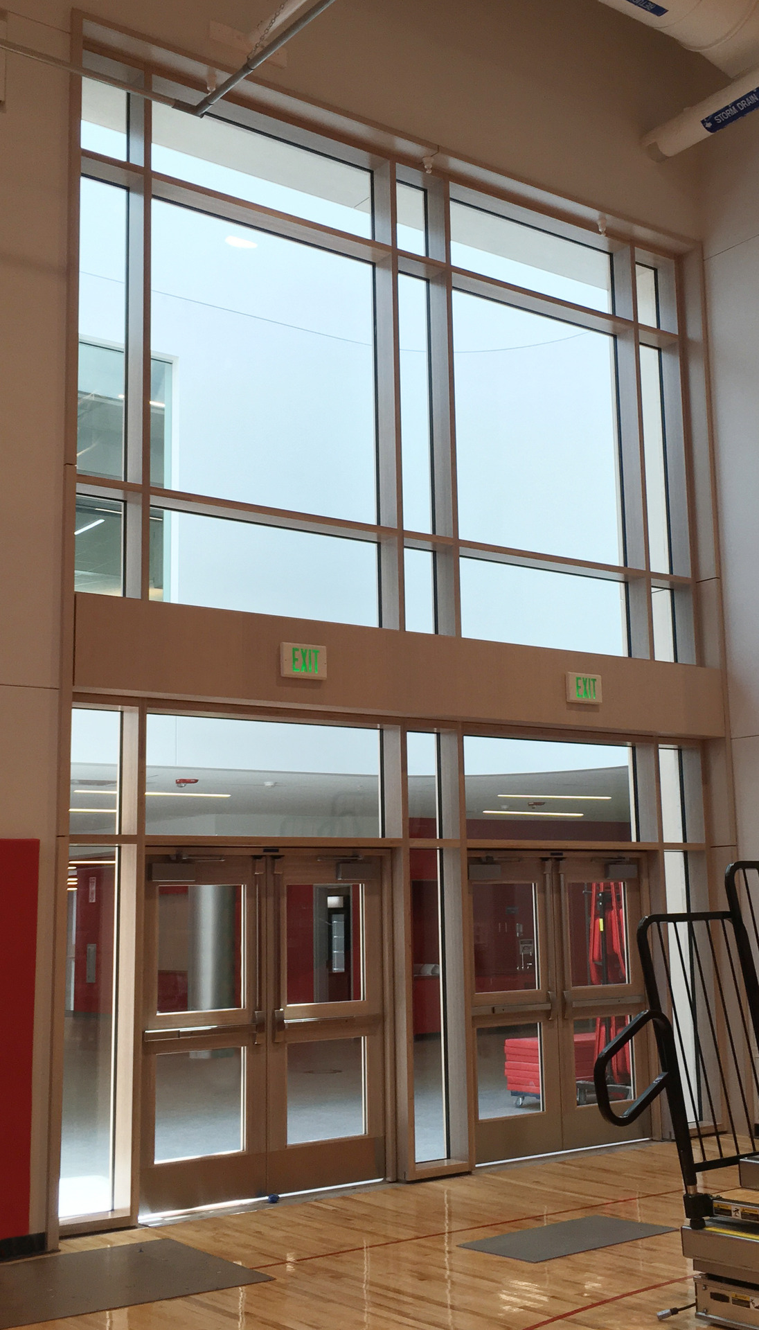 The use of Lamboo® Vue™ Series - Curtain Wall System, is seen throughout the schools final design.