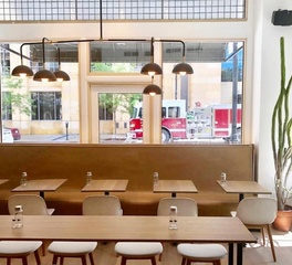 Saxton St Kilda Cafe and Bakery Temple Banquette Seating Dining Area