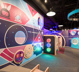 Science Museum Interior Wall Graphics Design Barn Light Electric