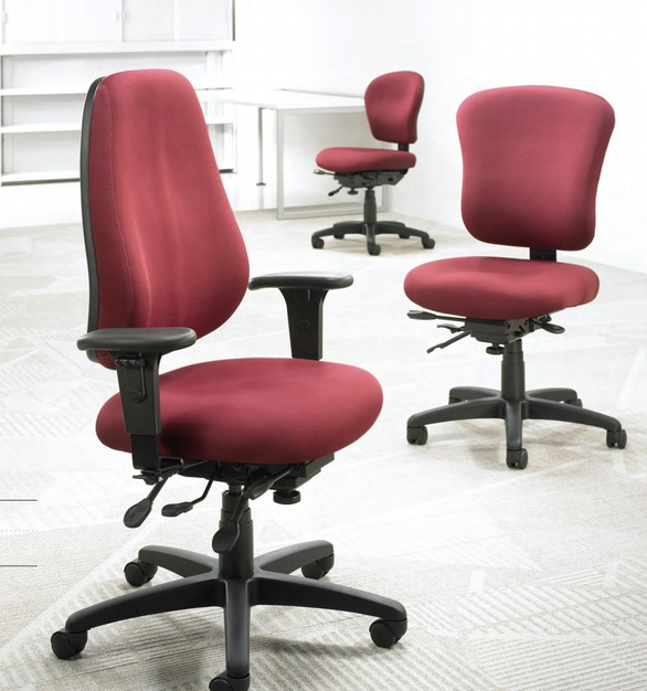 The popular simple take chairs in the PC Series by OM Smart Seating come in a wide range of options sized to fit ''big'' through ''small'' users alike.