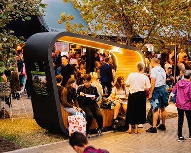 With a massive 1.2kW of solar generating power, a huge 440Ah battery capacity and exceptionally bright 2 x 50W strip lighting, 'Sedi Connect' offers the ultimate in highly visible solar seating for high traffic locations where reliable, extended performance is essential, especially for active nighttime locations.