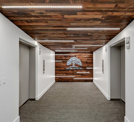 Severine Photography Live Oak Contracting New Downtown Office Interior Space Design Elevator Lobby