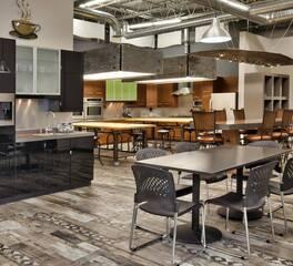 Showroom Dining sonus interior kitchen design