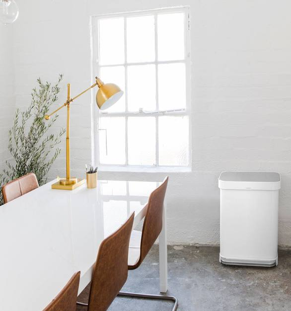 Any office setting or conference room needs the perfect trash can or recycling bin. simplehuman offers so many looks and colors that any space can find what they're looking for.