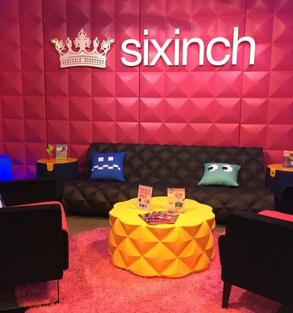 SIXINCH unique furniture brings an edge to any seating area including the SIXINCH USA Showroom in Chicago.