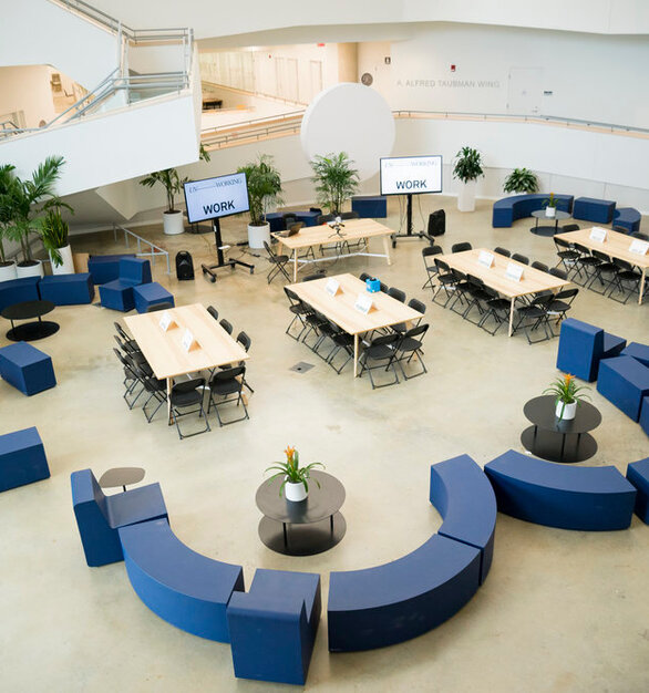 The possibilities are endless with the lightweight furniture from SIXINCH USA. Create flexible harmonious spaces such as this one located at Taubman College of Architecture & Design at the University of Michigan.