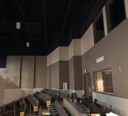 Skaar drywall and acoustics inc boman fine arts center auditorium theater acoustic wall panel 1