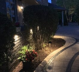 Sloanes LLC Manufacturers Rep Washington Exterior Lighting Sidewalk Outdoor Plants