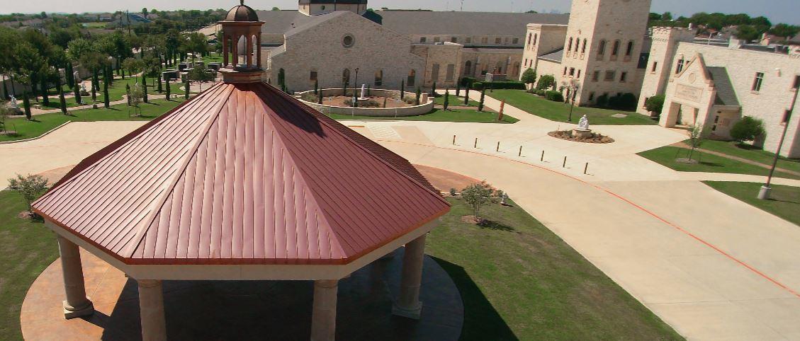 Hand-crafted copper elements now adorn St. Elizabeth Ann Seton in Keller, Texas