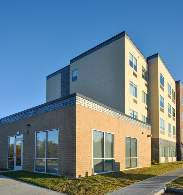 Mix and match various brick finishes to create a unique hotel facade. Speedymason's Brick Lath allows for easy, and quick installs without compromising on quality.