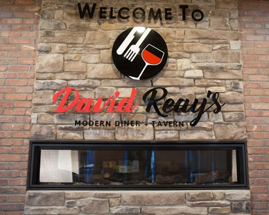 David Reay's Diner and Tavern features the rich character of brick with the added convenience that Speedymason thin brick system provides.