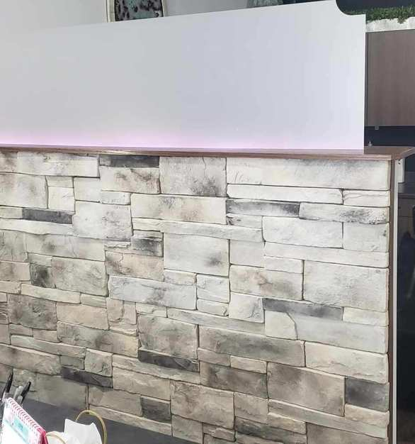 Speedymason can help redefine your interior aesthetic on nearly any interior wall - including your partition walls. Constructed of high grade fiber and composite material, Speedymason provides the aesthetic, durability, and strength to your next or existing interior project.