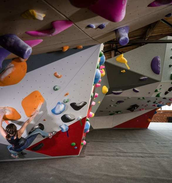 The Spot Denver Bouldering Gym has an astounding 8,000 sq ft of bouldering terrain.