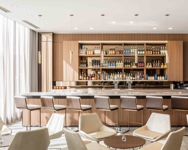 The 77,810 square-foot select-service hotel features an architecturally compelling, modern design with sleek rooms and expansive public spaces and a high level of finishes. The hotel is one of the first AC Hotels by Marriott in the region.