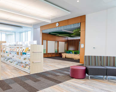 Stahl Construction Ankeny Kirkendall Public Library Interior Bookshelves and End Panels