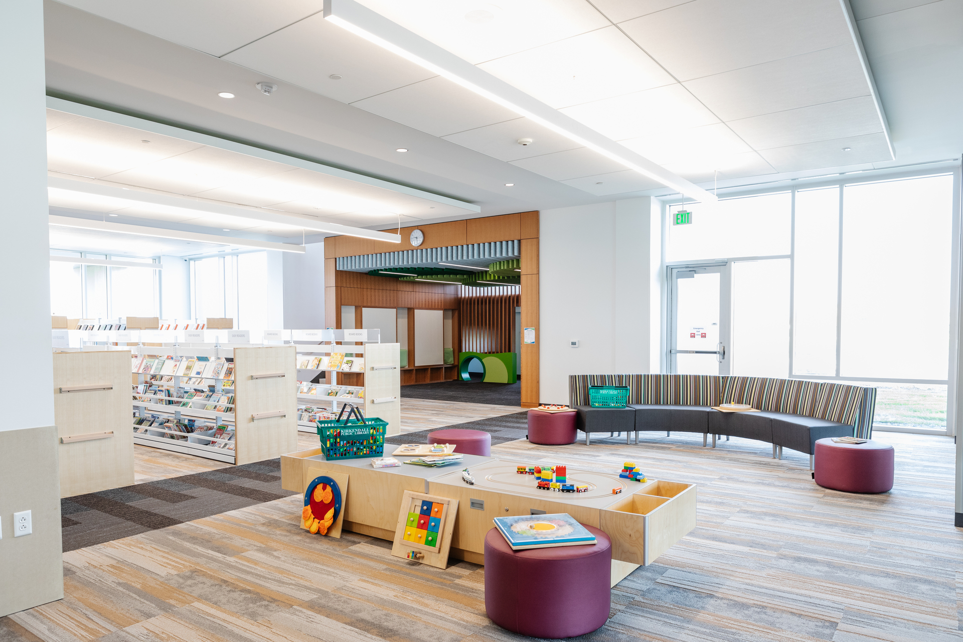 Stahl Construction Ankeny Kirkendall Public Library Interior Natural Light and Seating