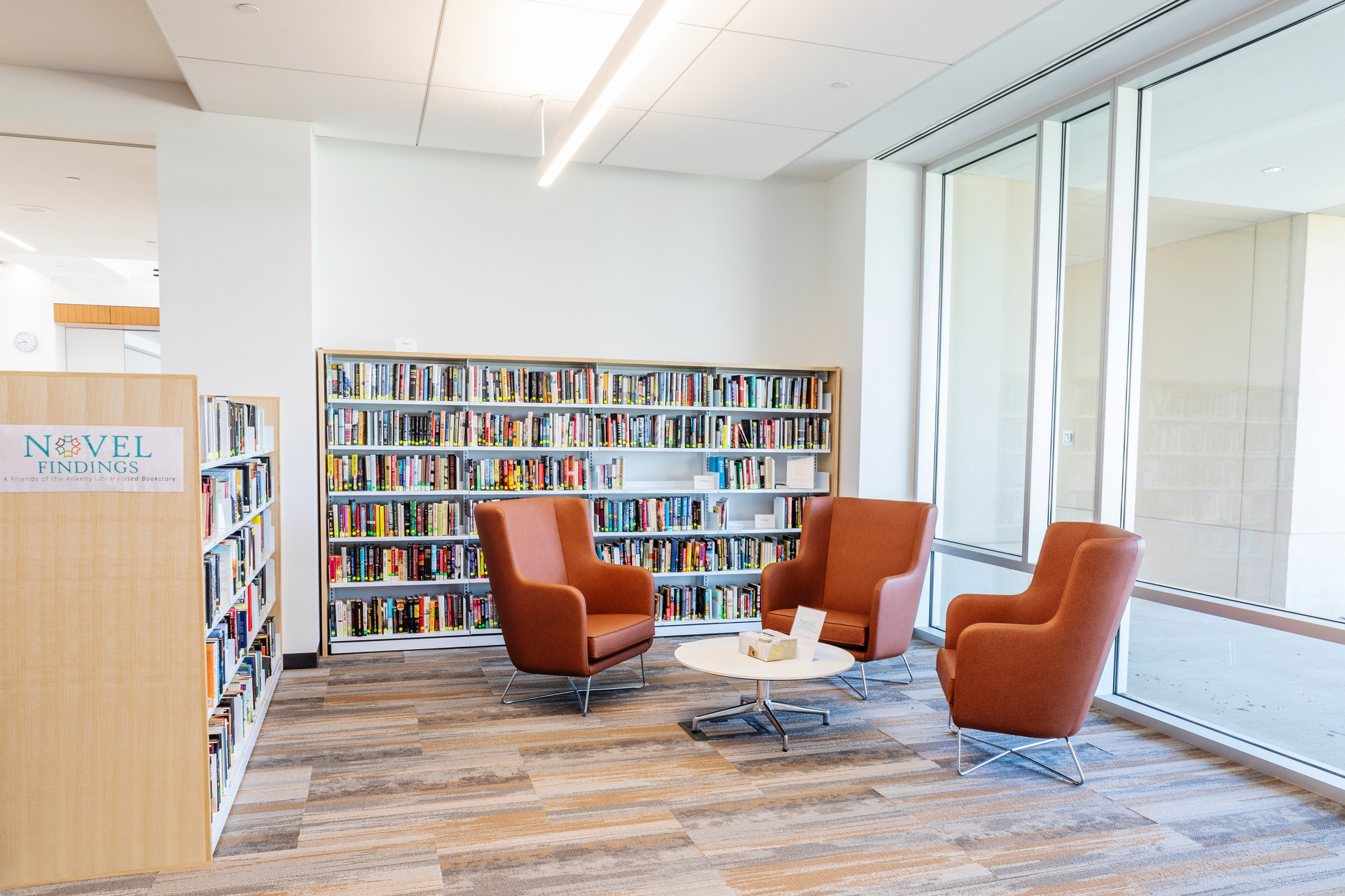 Stahl Construction Ankeny Kirkendall Public Library Interior Open Reading Area