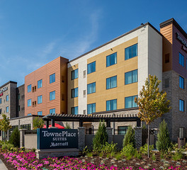 Stahl Construction Hospitality Design TownePlace Suites Hotel Exterior Finish and Monument Sign