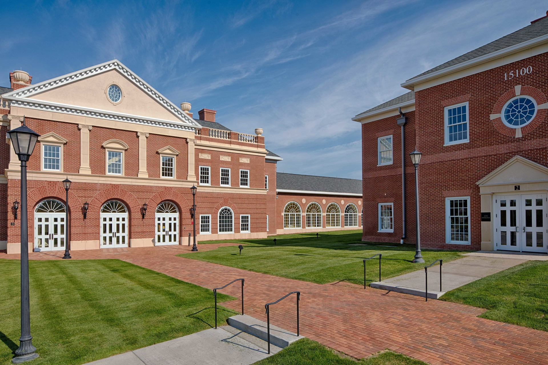 The timeless brick design of Providence Academy: Performing Arts Center in Plymouth, Minnesota, by Stahl.